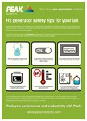 Peak Scientific's best practice A2 Poster for H2