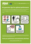 Peak Scientific's best practice A2 Poster for N2