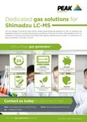 Shimadzu Sales One Sheet/Flyer (UK/RoW)