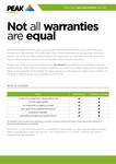 Warranty Fact Sheet