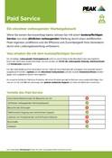 Peak Warranty Plans 2021 - Paid Service (German)