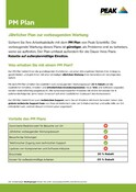 Peak Warranty Plans 2021 - PM Plan (German)