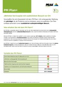 Peak Warranty Plans 2021 - PM Plan+ (German)