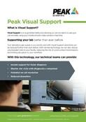 Peak Visual Support Single Sheet
