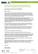Infinity XE 60 Press Release