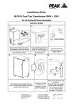 06-3210 Dual Tap Transformer - Installation Guide